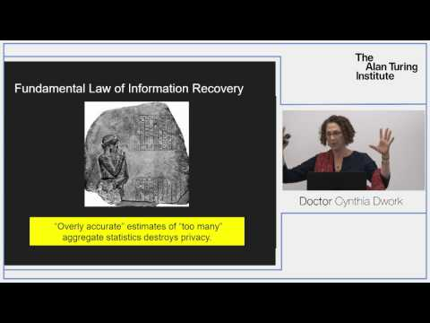 Turing Lecture: Dr Cynthia Dwork, Privacy-Preserving Data Analysis