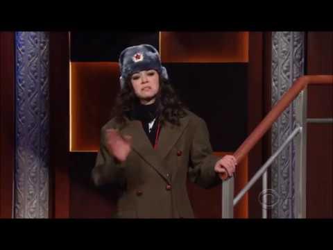 Tatiana Maslany skit on Stephen Colbert 2/15/17