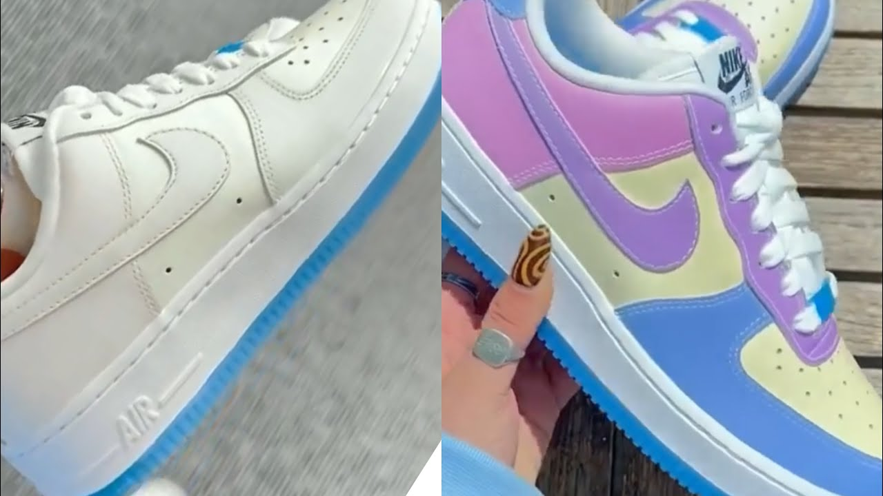 UV-Activated Color Changing Nike Air Force 1s 🤔