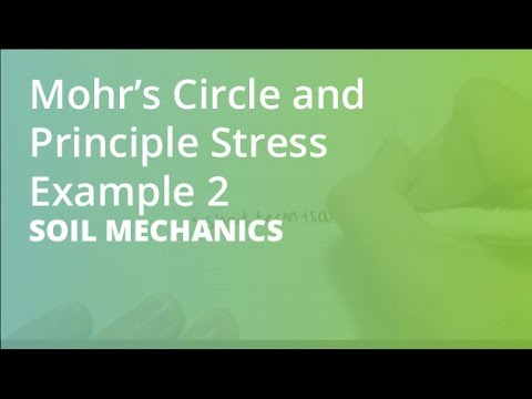Mohru0027s Circle And Principle Stress Example 2 | Soil Mechanics