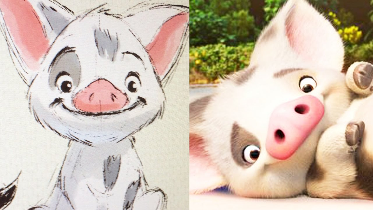 how to draw pua from disney s moana quick draw disney live youtube