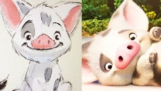 How To Draw Pua From Disney's Moana | Quick Draw | Disney LIVE