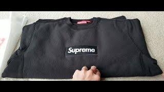 FW18 Supreme Box BOGO Logo Crewneck Sweatshirt + Try On Body!!! 12 15 18!