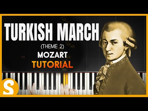 "How To Play ""TURKISH MARCH"" [2nd Theme] By Mozart  