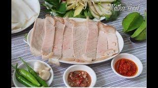 Bật mí cách làm thịt heo 2 đầu da, bún mắm nêm, món ngon nổi tiếng Đà Nẵng || Natha Food