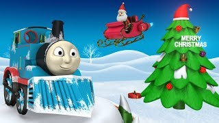 THOMAS THE TRAIN - TOY FACTORY - TRAINS FOR KIDS - CHRISTMAS SONG
