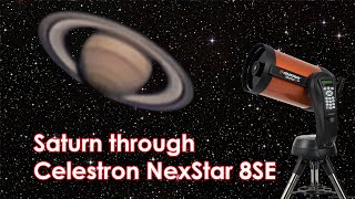 Saturn through Celestron NexSt…