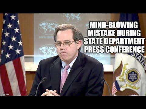 MIND-BLOWING Mistake During State Department Press Conference