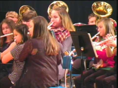 Kingsford Middle School Christmas Band Concert 2016