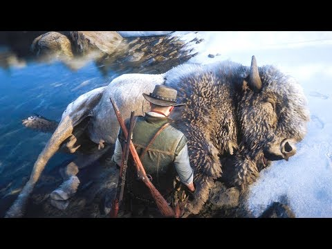 HUNTING THE LEGENDARY WHITE BISON In Red Dead Redemption 2