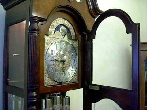howard miller cherry grandfather clock tripl chime