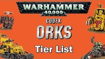 Ork Codex Tier List