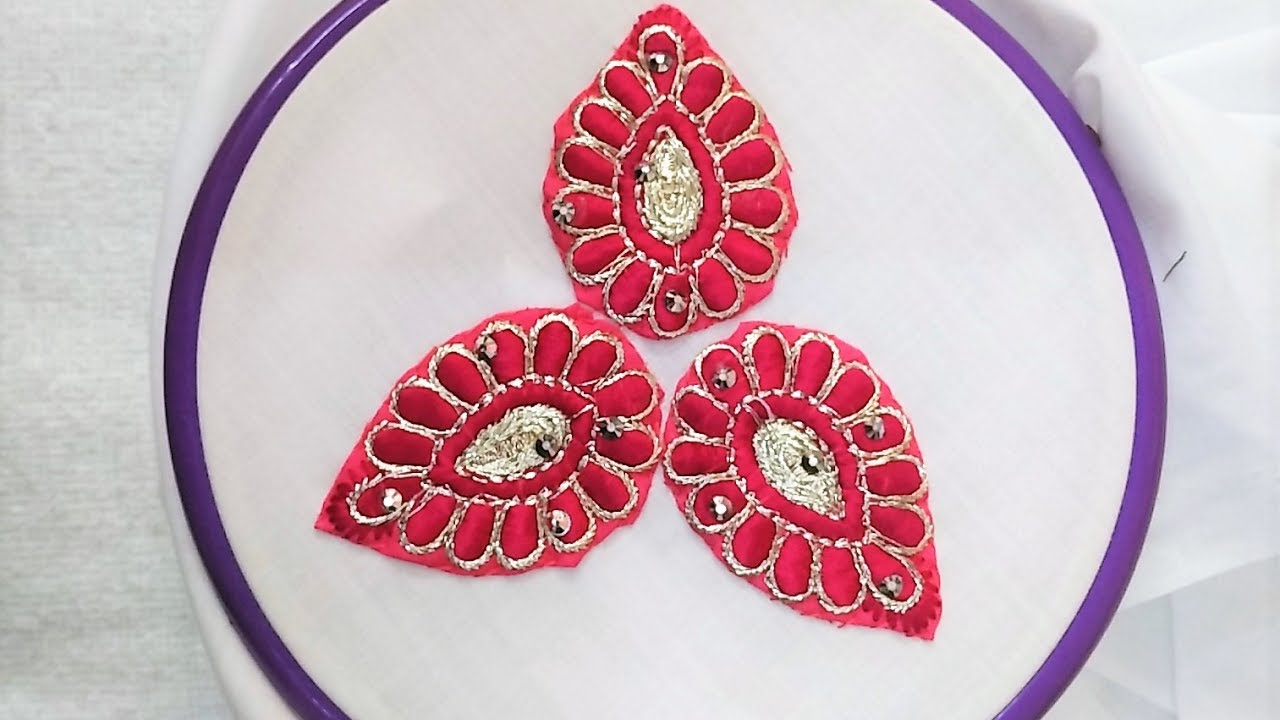 Hand Embroidery How To Use Excess Embroidered Cloth Changing