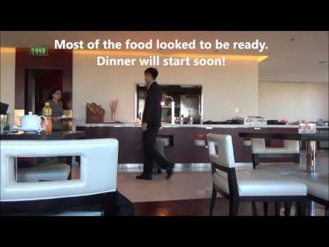 Renaissance Hotel Beijing 24F Executive Lounge Staff Preparing Dinner