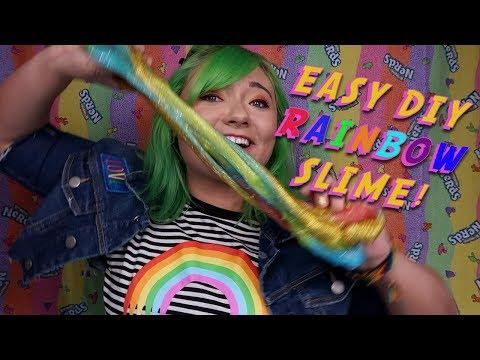 DIY RAINBOW SLIME CHALLENGE w/ Jaci Butler
