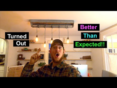 How To make a Dining Room Light Fixture from an Old Chicken Feeder!!! DIY