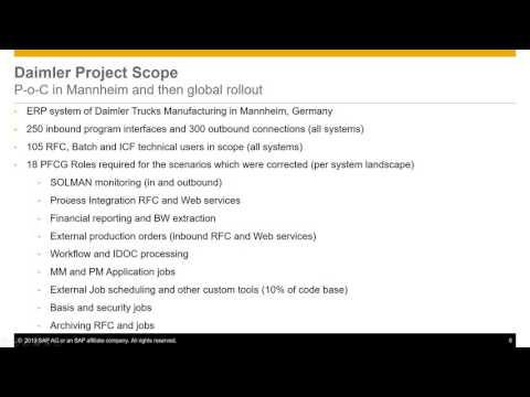 Learn how Daimler AG optimized roles of RFC and other technical users in SAP