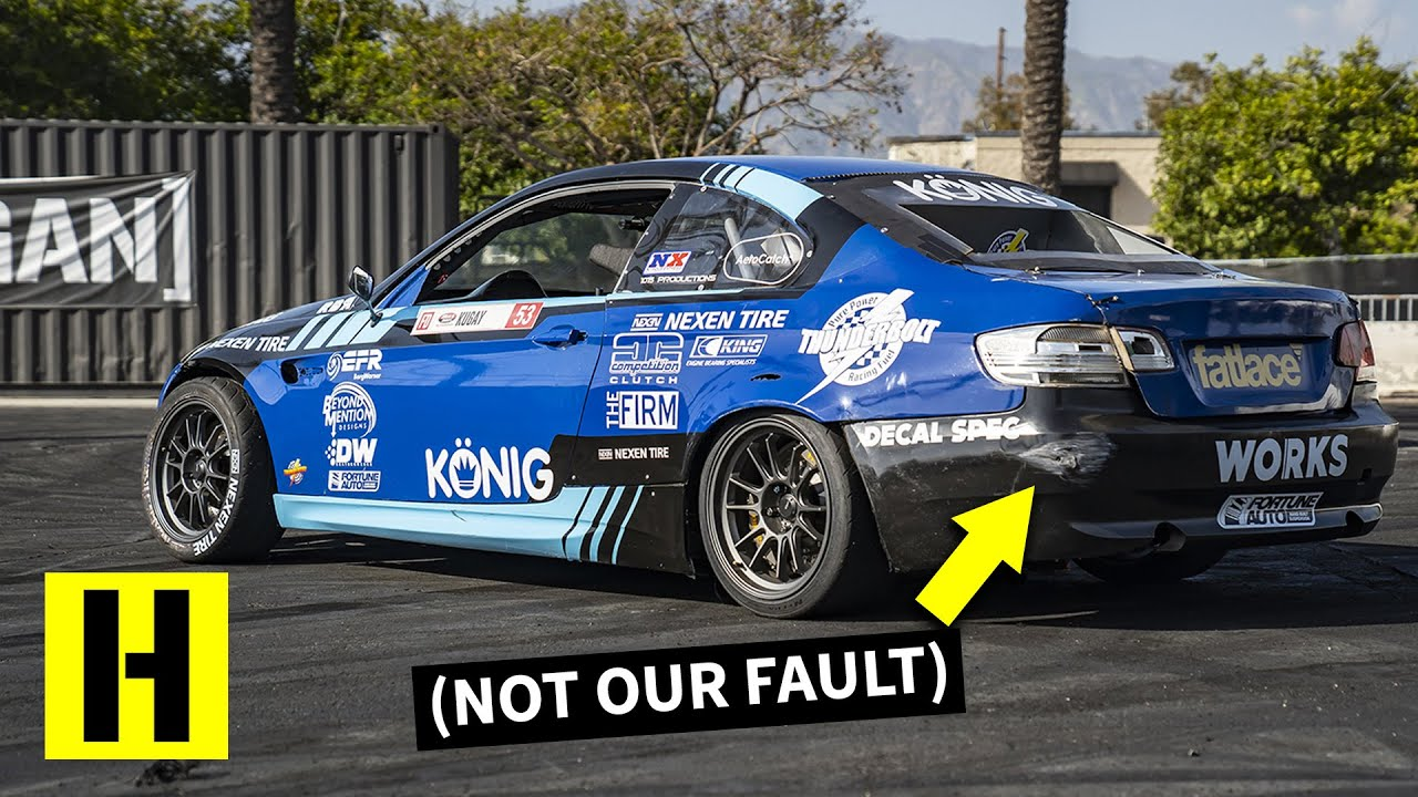 600HP 2JZ Powered BMW M3 Gets Danger Close to the Trailer  The Bar