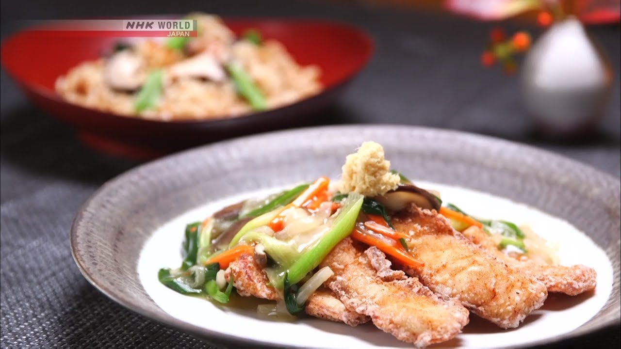 Photo of Chef Tatsuo Saito's Deep-fried fish with An Sauce – Dining with the Chef – video