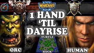 Grubby | Warcraft 3 TFT | 1.29 | ORC v HU on Turtle Rock - 1 Hand