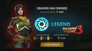 Shadow Fight 3 claiming Legend season Rewards