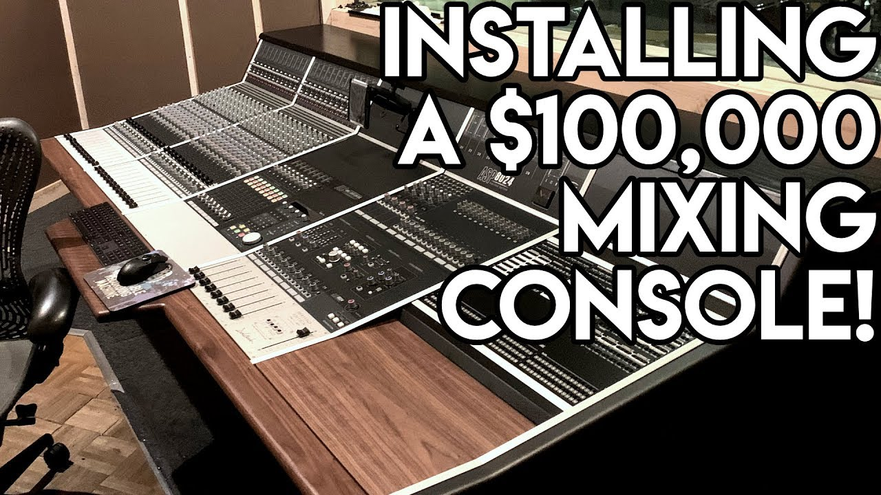 Installing a $100000 mixing console!