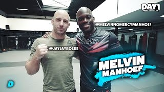 JAY-JAY GAAT KNOCK OUT met Melvin NO MERCY Manhoef | Sporten Met BN'ers | DAY1
