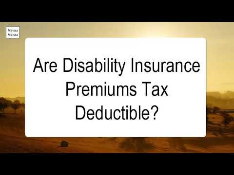 are-disability-insurance-premiums-tax-deductible