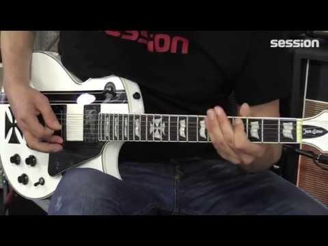 Metallica Hetfield Iron Cross Guitar Top schwarz