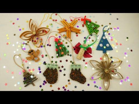10 DIY Ideas for Christmas Tree Decorations