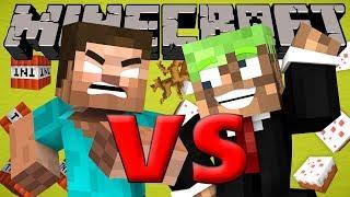 Extreme STUPID Noob VS. GODLIKE Herobrine - Minecraft