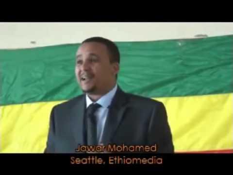 Jawar Mohamed speaks in Seattle