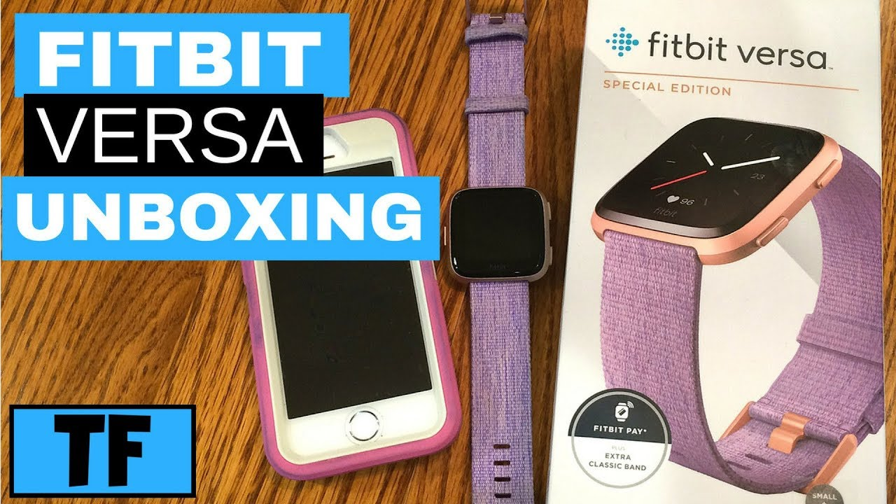 Fitbit Versa Special Edition Unboxing and Hands-on Setup! (New Fitness  Smartwatch Activity Tracker)