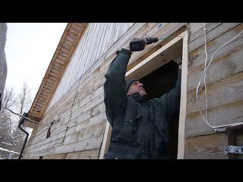 Окосячка в деревянном доме двери своими руками