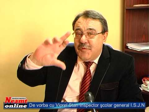 Viorel STAN Inspector şcolar general - Inspectoratul Şcolar al Judeţului Neamt