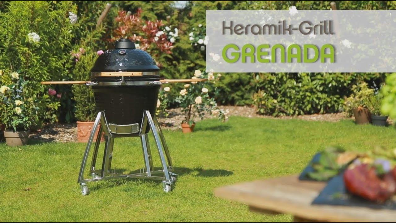 Keramik Holzkohlegrill Test : Tepro keramik grill grenada youtube