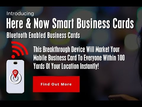 Bluetooth enabled business card the smart business card youtube bluetooth enabled business card the smart business card colourmoves