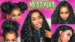 10 EASY TRENDY VIRAL HAIRSTYLES ON A 360 CURLY WIG | ELVA HAIR WIGS REVIEW