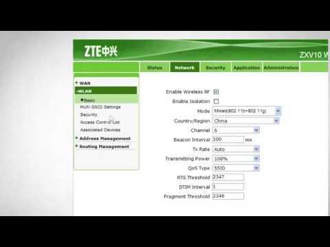 Як змінити назву в Wi Fi модемі ZTE від Укртелеком! Настройки модему!