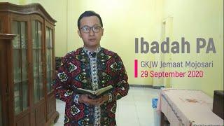 Ibadah PA 29 September 2020 - GKJW Jemaat Mojosari