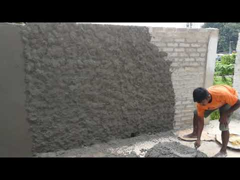 India style of plastering a wall