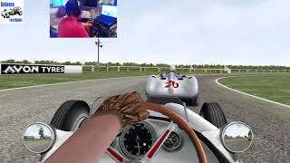 Grand Prix Legends: F1 1955: The British GP of Aintree, 2nd Practice Session -TrackIR- 60FPS