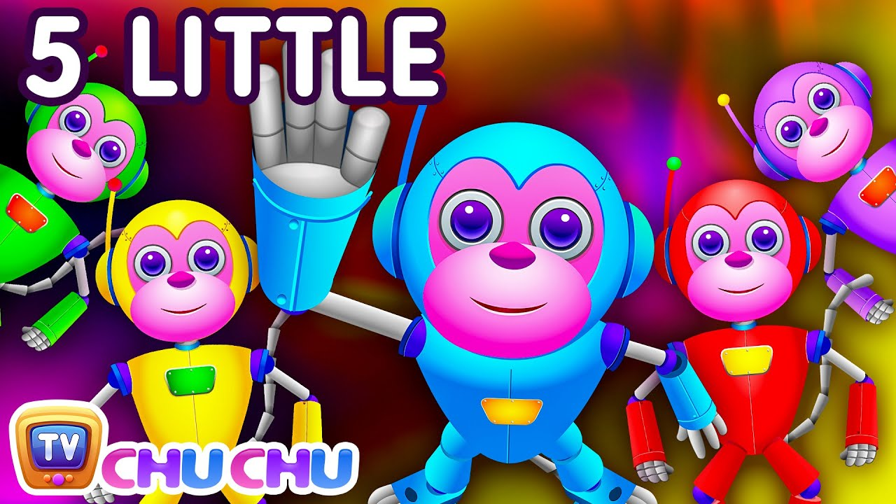 Five little monkeys jumping on the bed part 2 the robot five little monkeys jumping on the bed part 2 the robot monkeys chuchu tv kids songs youtube amipublicfo Image collections