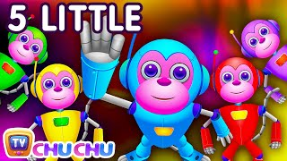 Repeat youtube video Five Little Monkeys Jumping On The Bed | Part 2 - The Robot Monkeys | ChuChu TV Kids Songs