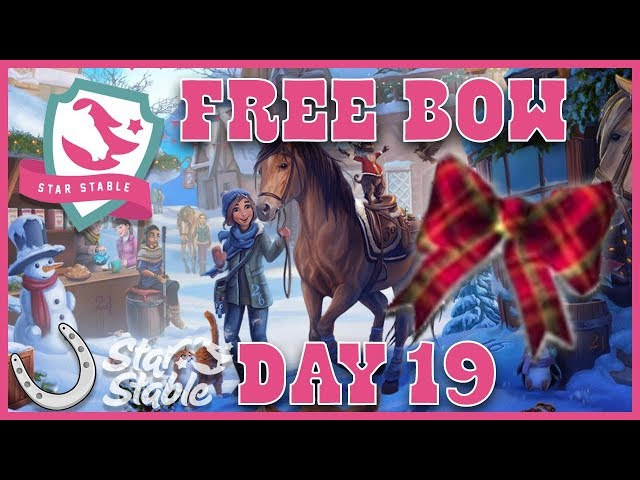 Day 19 Free SSO Mane Bow Code - Holiday Calendar 2018 🐴 Star Stable Online