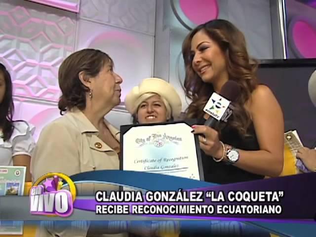Reconocimiento Para La Coqueta Claudia Gonzalez Vidinfo