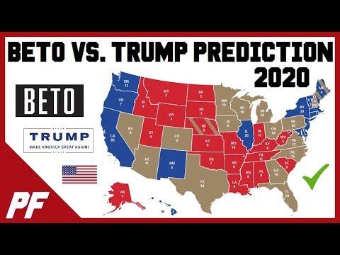 Beto O'Rourke vs. Donald Trump 2020 Map Prediction - 2020 Electoral Map Projection