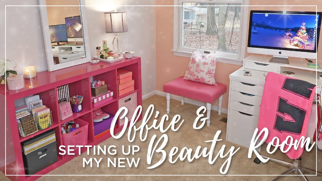 Ikea Beauty Room & Office Set Up  Decorating, organizing, painting   Office & Makeup Room Makeover