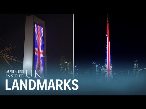 World famous landmarks changed colour and went dark to honour Manchester attack victims