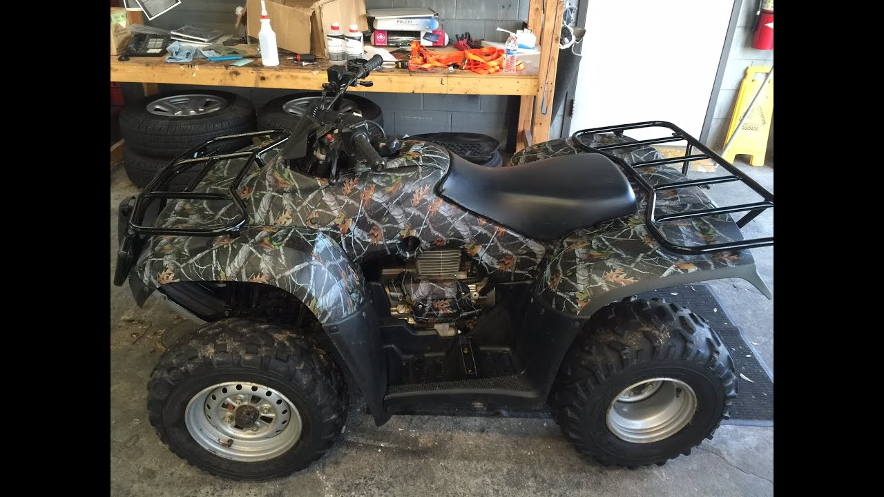 Honda Four Wheeler Hydro Dipped Youtube